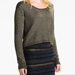 Rebecca Minkoff Black & Gold Metallic Sweater